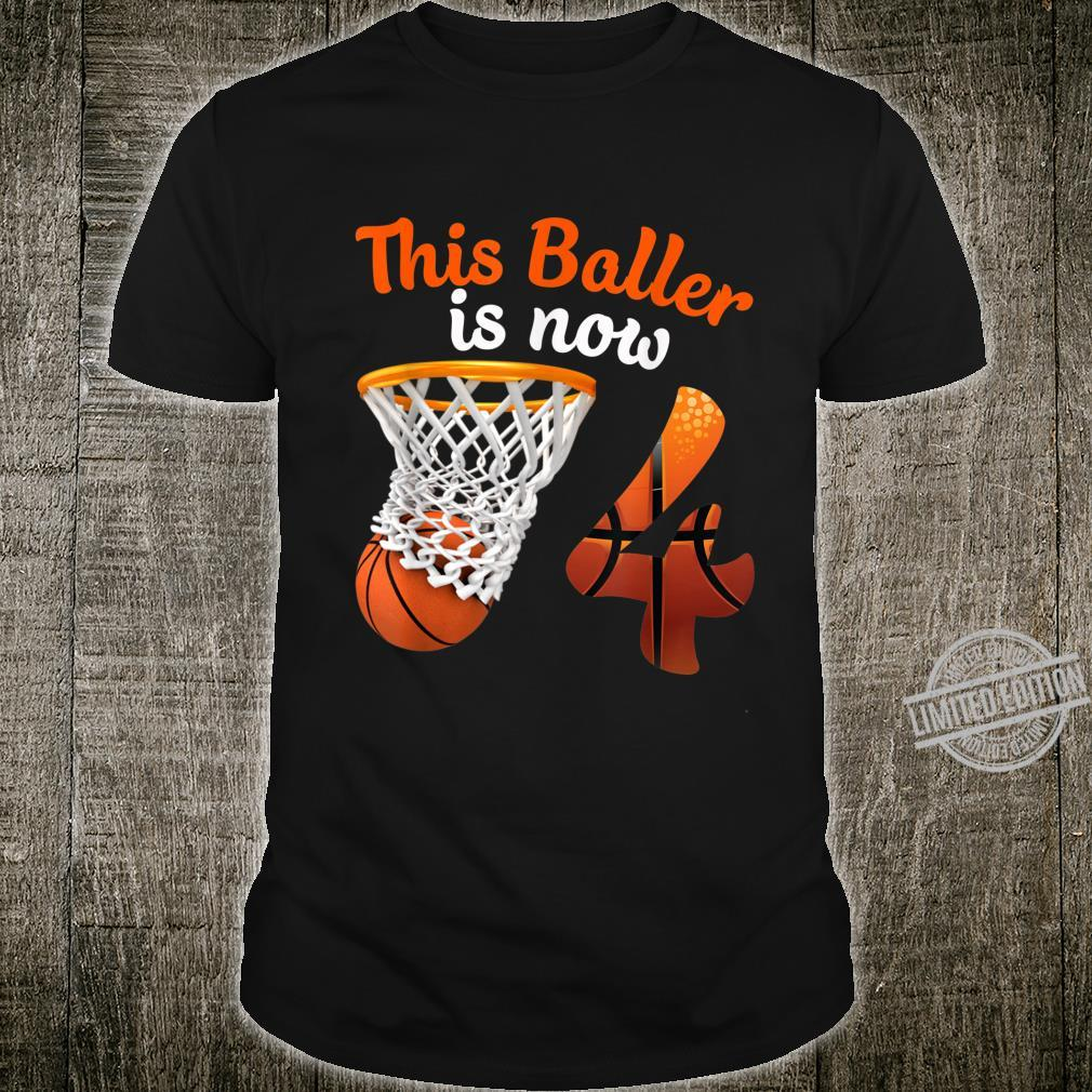 4th Birthday Basketball 4 Years Old Shirt