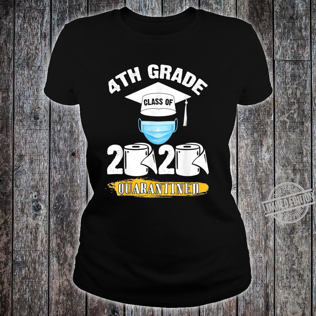 4th Grade Class of 2020 Quarantined Graduate Shirt ladies tee