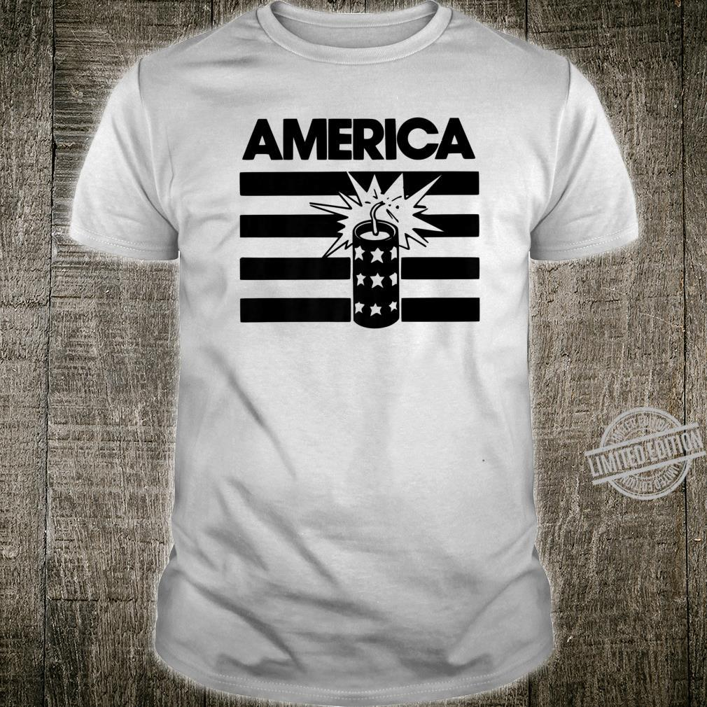 4th Of July American America Fireworks Shirt