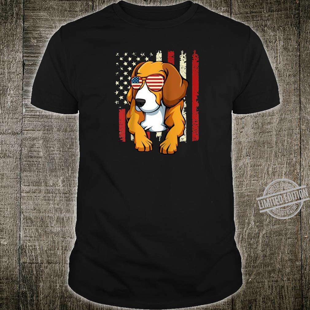 4th of July Beagle Dog American Flag Animal Patriotic Shirt