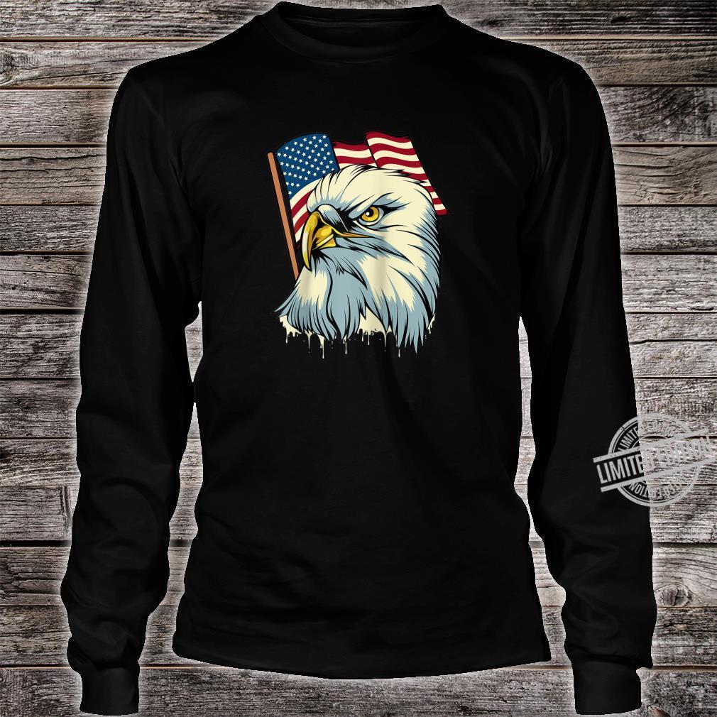 4th of July Eagle Bird American Flag Animal Patriotic Shirt long sleeved