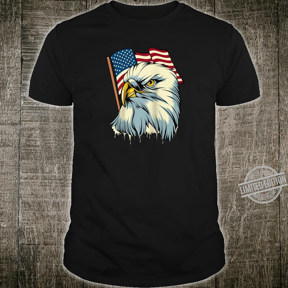 4th of July Eagle Bird American Flag Animal Patriotic Shirt