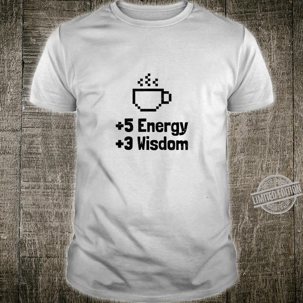 5 Energy 3 Wisdom Coffee Pixel Retro Shirt