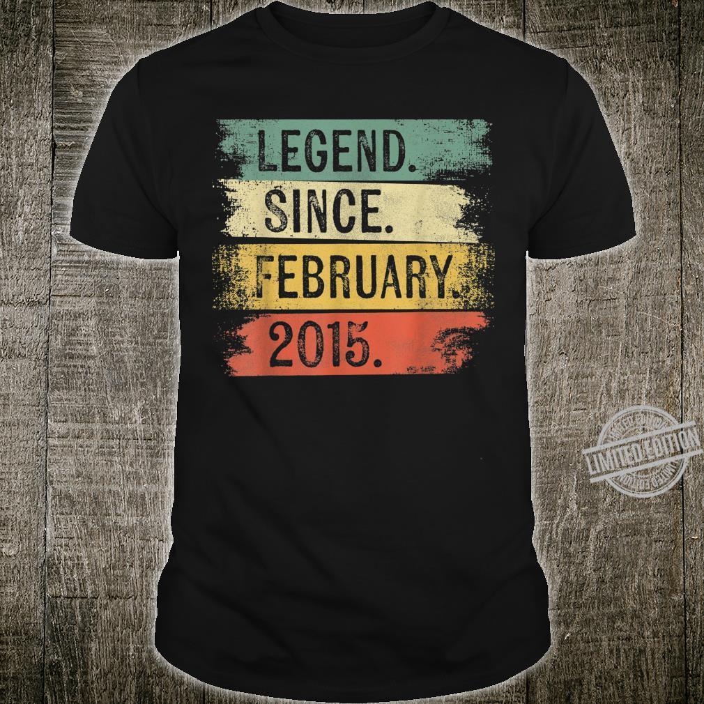 5 Year Old Legend Since February 2015 5th Birthday Shirt