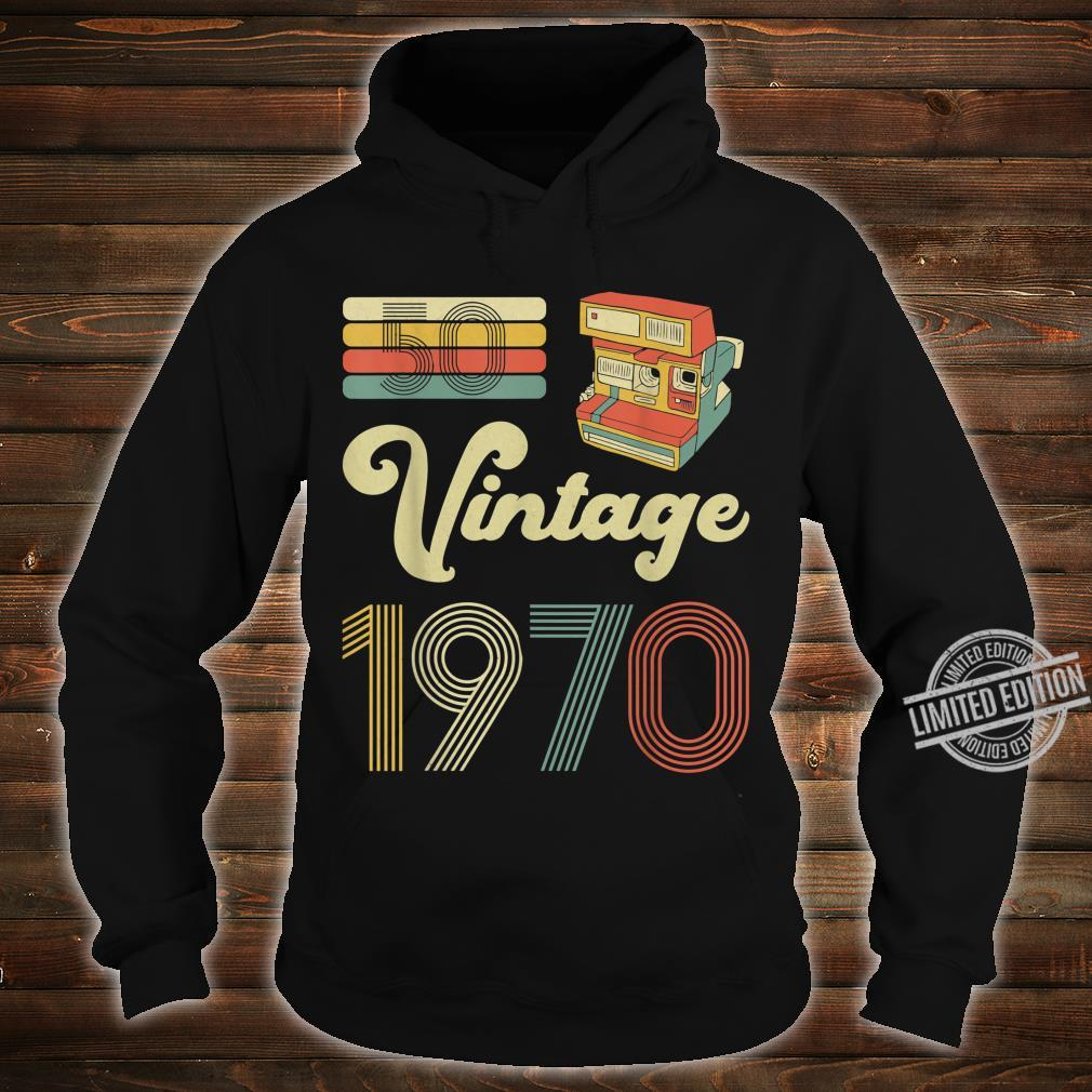 50 Years Old Made in 1970 Vintage 50th Birthday Shirt hoodie
