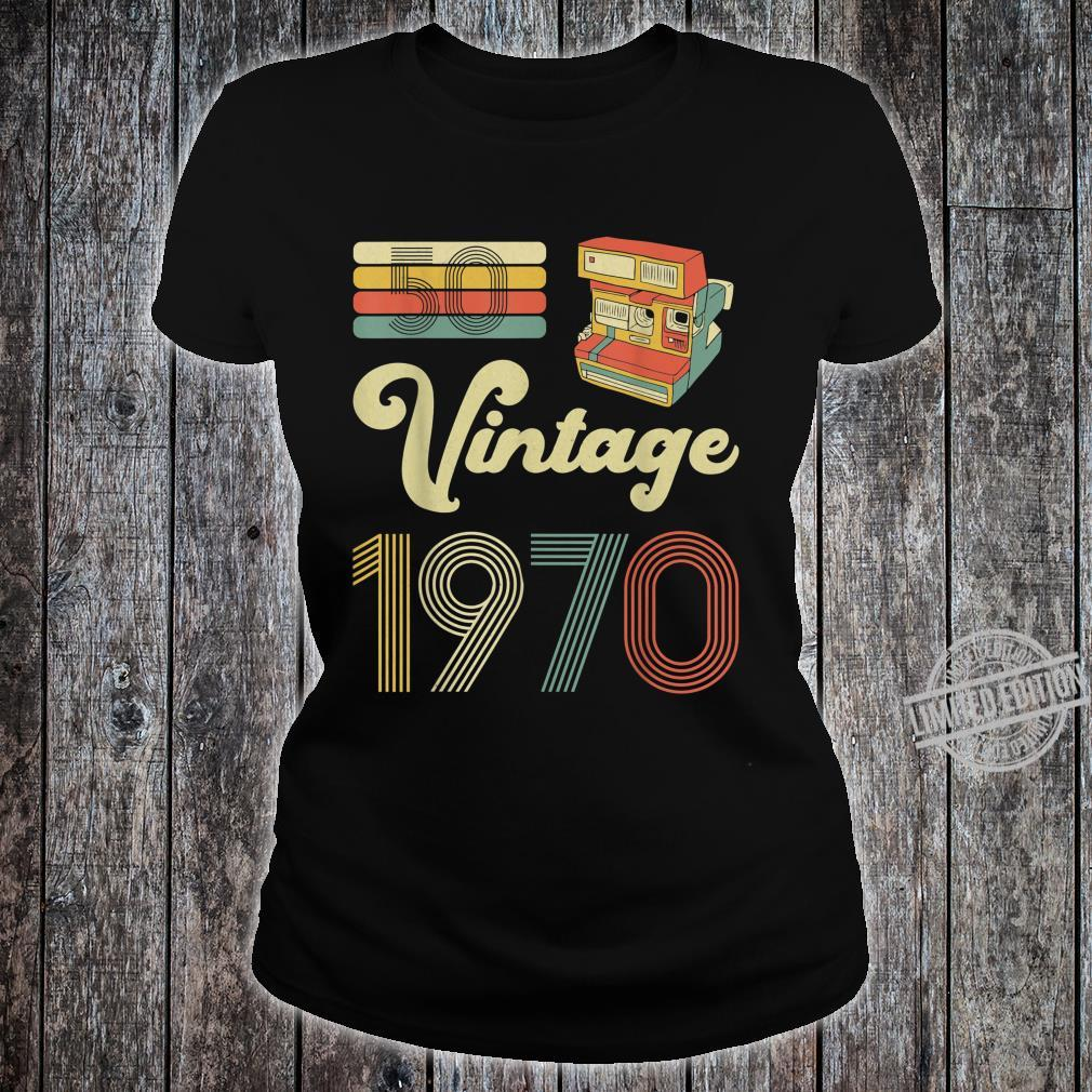 50 Years Old Made in 1970 Vintage 50th Birthday Shirt ladies tee