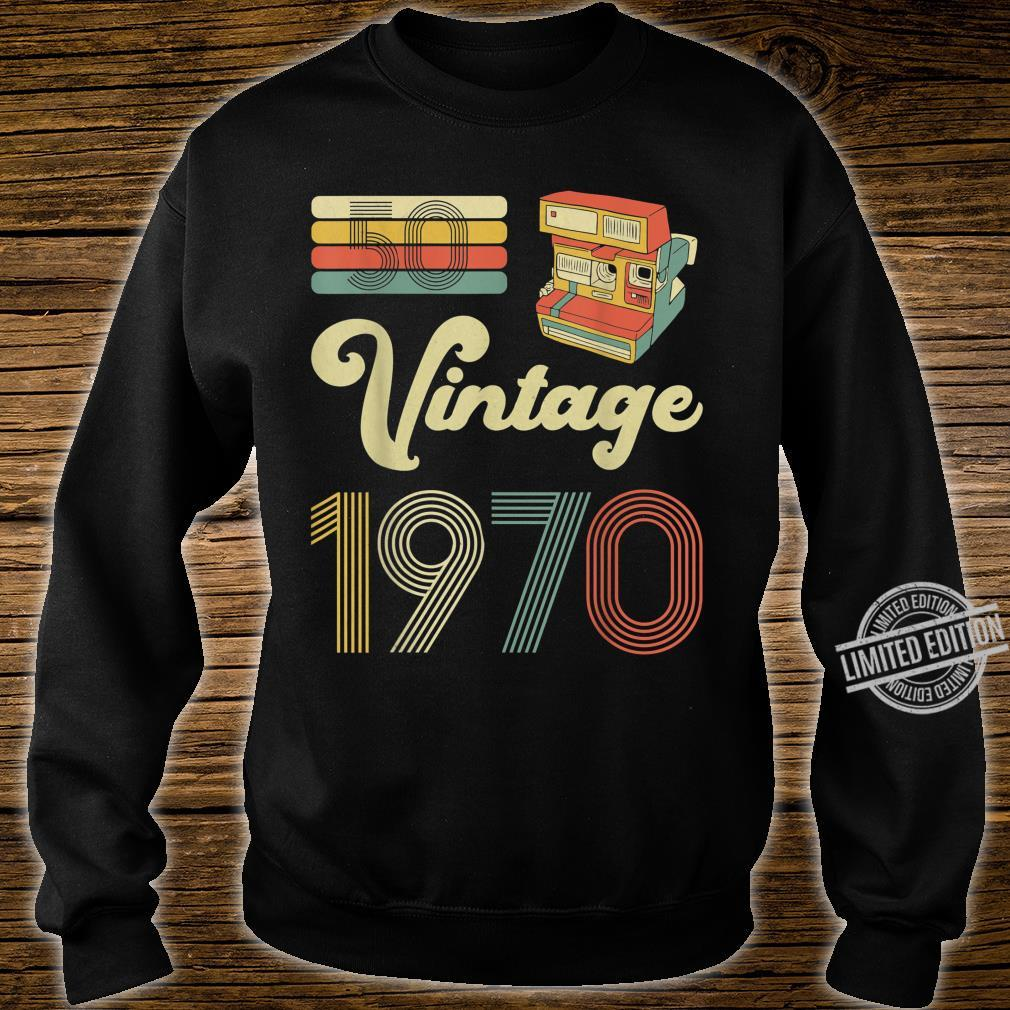 50 Years Old Made in 1970 Vintage 50th Birthday Shirt sweater