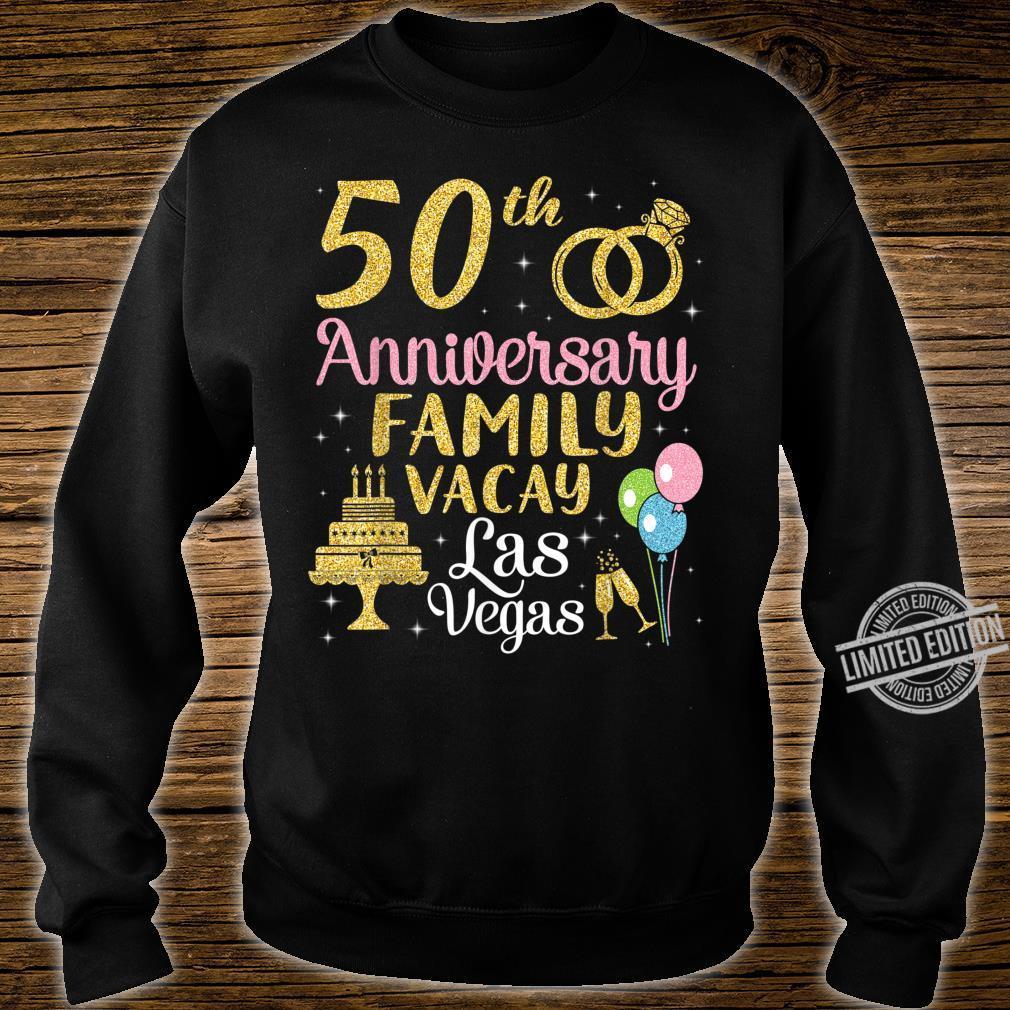 50th Anniversary Family Vacay Las Vegas Husband Wife Marry Shirt sweater