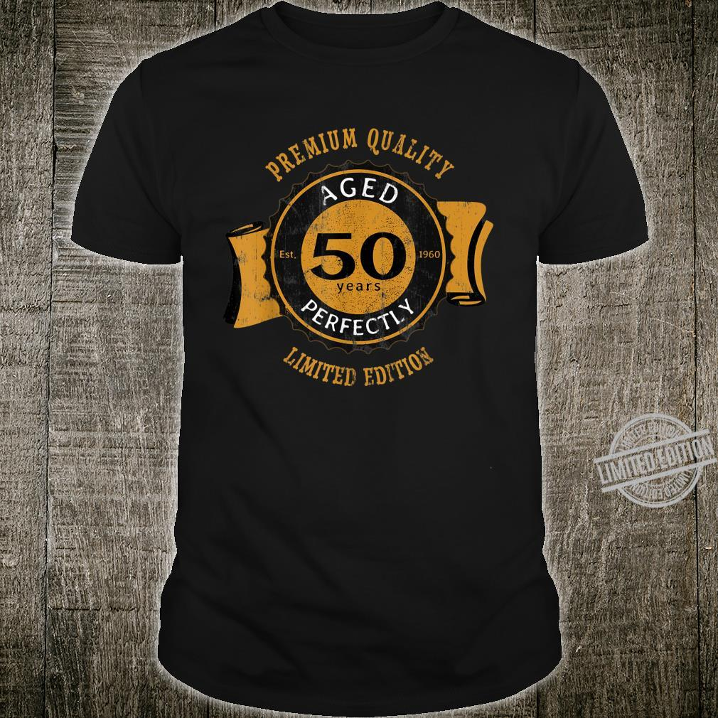50th Birthday Vintage Distressed Aged Perfectly Shirt