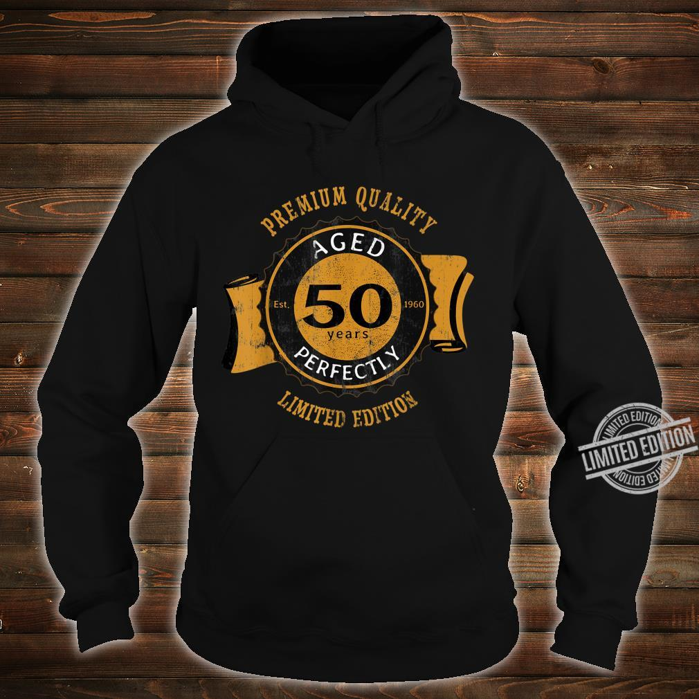 50th Birthday Vintage Distressed Aged Perfectly Shirt hoodie