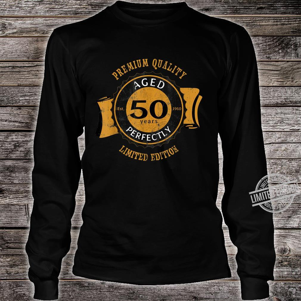 50th Birthday Vintage Distressed Aged Perfectly Shirt long sleeved
