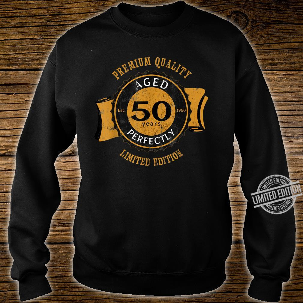 50th Birthday Vintage Distressed Aged Perfectly Shirt sweater
