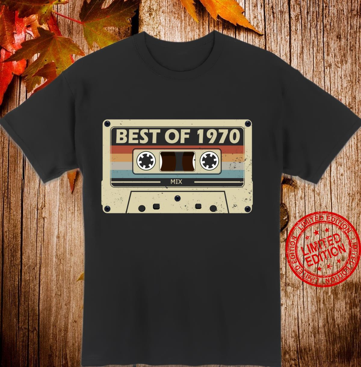 50th birthday present 50 years old cassette vintage 1970 Shirt