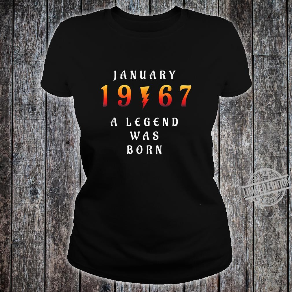 53 th Birthday January 1967 53 Year Old Dad Father Shirt ladies tee