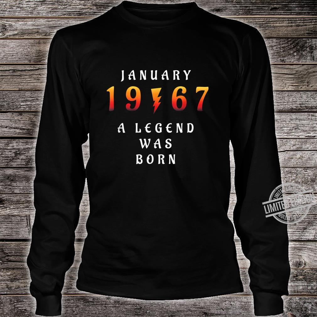 53 th Birthday January 1967 53 Year Old Dad Father Shirt long sleeved