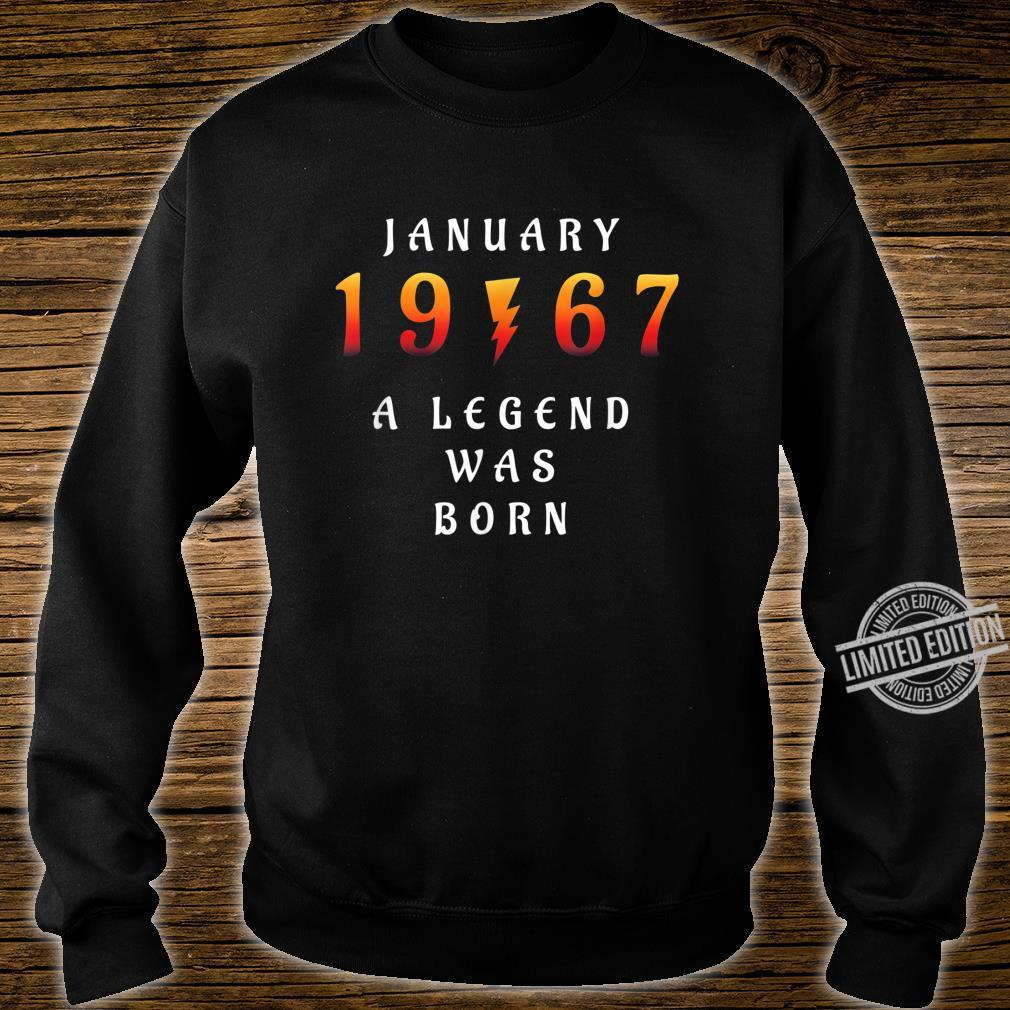 53 th Birthday January 1967 53 Year Old Dad Father Shirt sweater