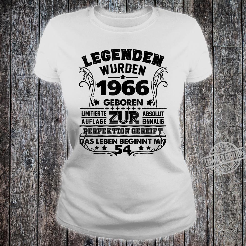 54. Geburtstag Geschenk Lustig Junge Mädchen1966 Party Shirt ladies tee