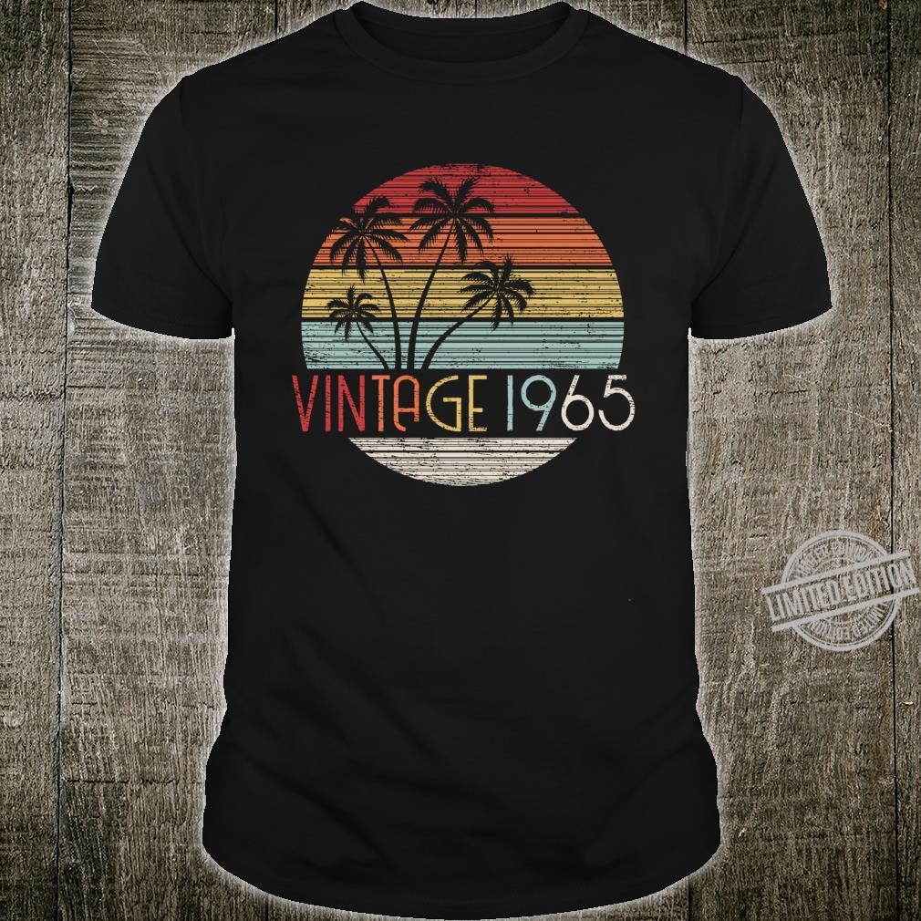 55 Year Old Vintage 1965 Sunset Palm Tree 55th Birthday Shirt
