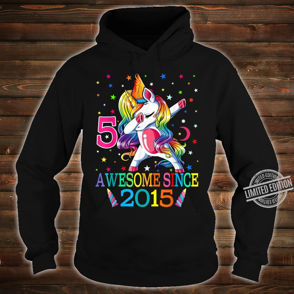 5th Birthday Dabbing Unicorn Party For 5 Years Old Girl Shirt hoodie