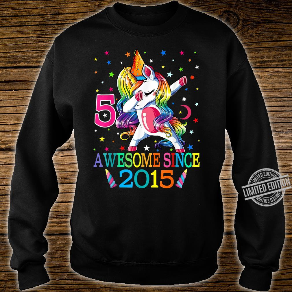 5th Birthday Dabbing Unicorn Party For 5 Years Old Girl Shirt sweater