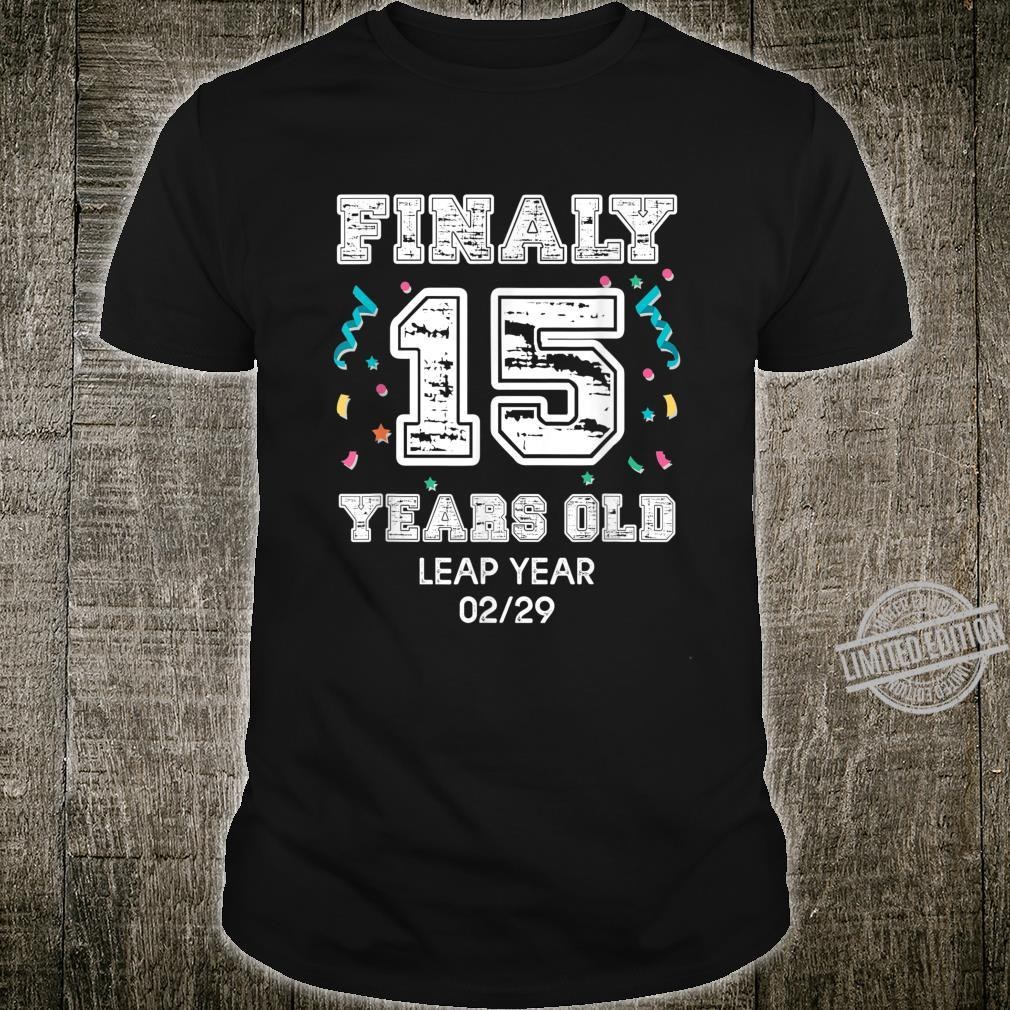 60 Year Old Birthday Shirt 2020 Leap Year Birthday Shirt