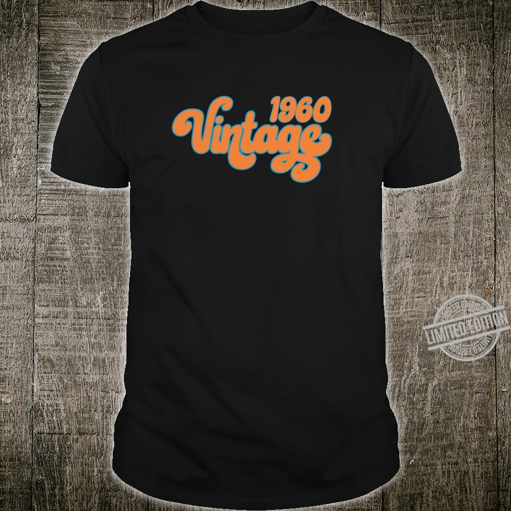 60th Birthday Born in Vintage 1960 Hippie Anniversary Shirt