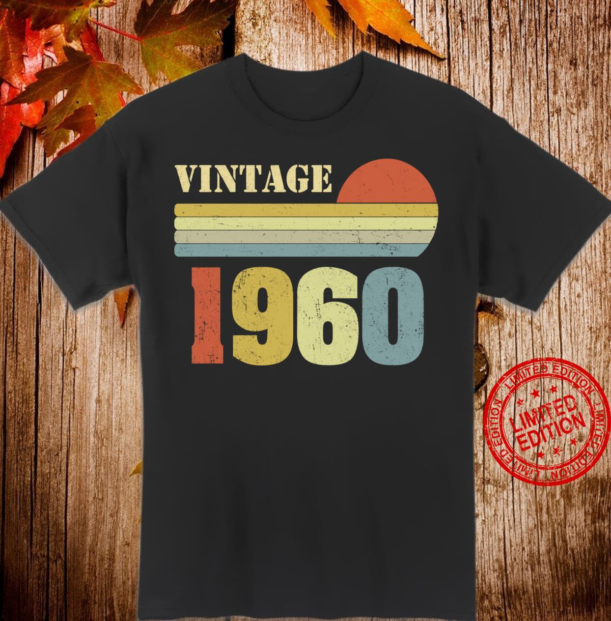 60th Birthday Vintage 1960 60 Years Old Retro Shirt