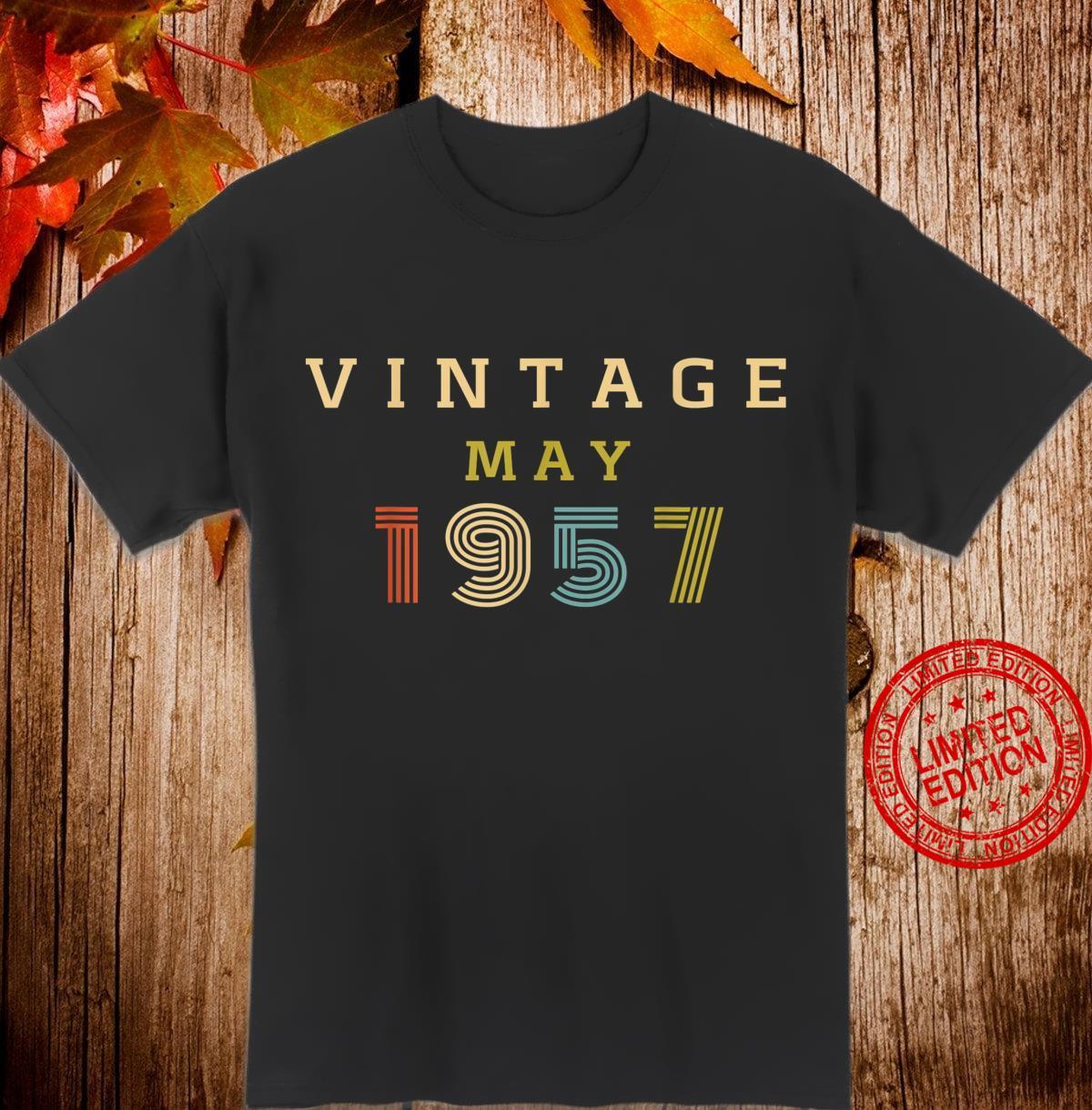 63 Year Old Birthday Vintage 1957 May Shirt