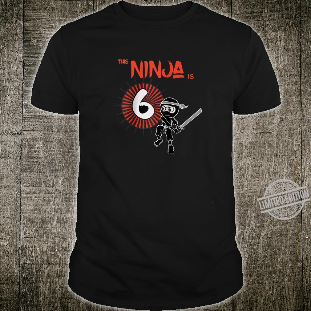 6th Birthday Ninja 6 Year Old Son Born 2014 Shirt