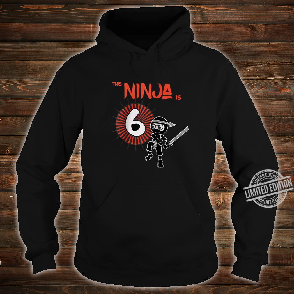 6th Birthday Ninja 6 Year Old Son Born 2014 Shirt hoodie