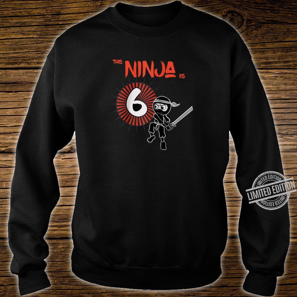 6th Birthday Ninja 6 Year Old Son Born 2014 Shirt sweater