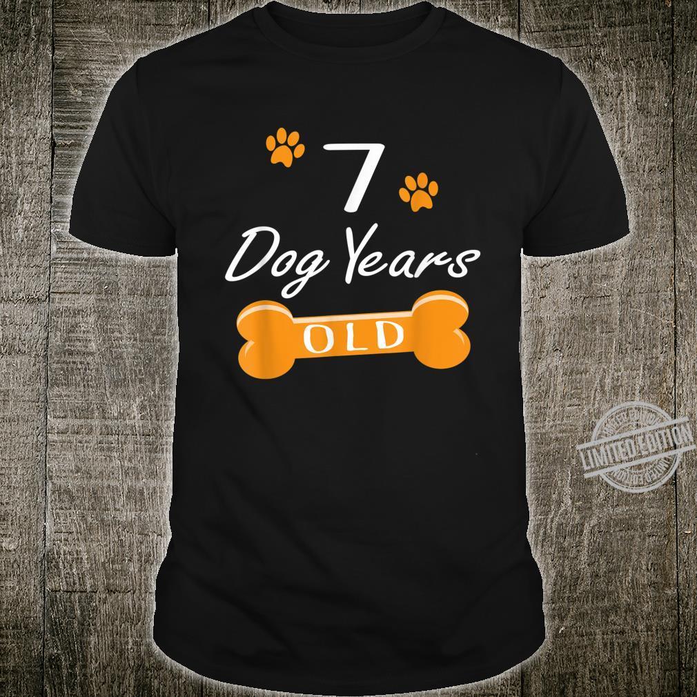 7 Dog Years Old 1st Birthday Puppy Shirt