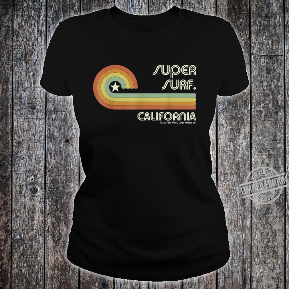 70s 80s CA California Wave Super Surf Shirt ladies tee