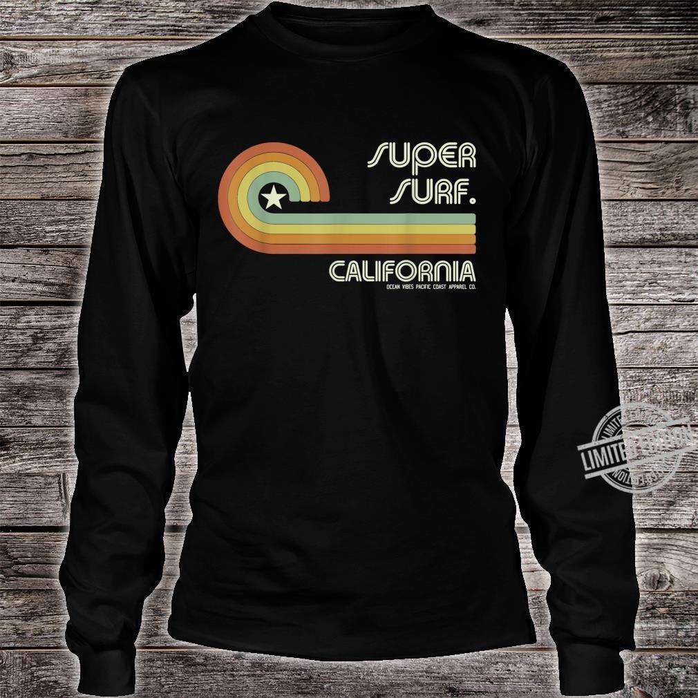 70s 80s CA California Wave Super Surf Shirt long sleeved