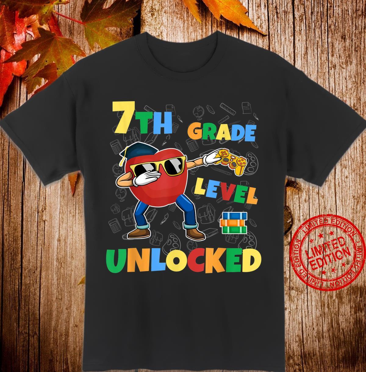 7th Grade Level Unlocked Dabbing Gamer First Day School Shirt