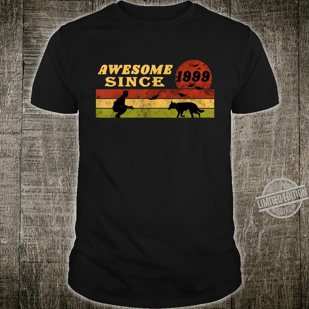 80s Vintage Retro Dog 21st Birthday, Awesome Since 1999 Shirt
