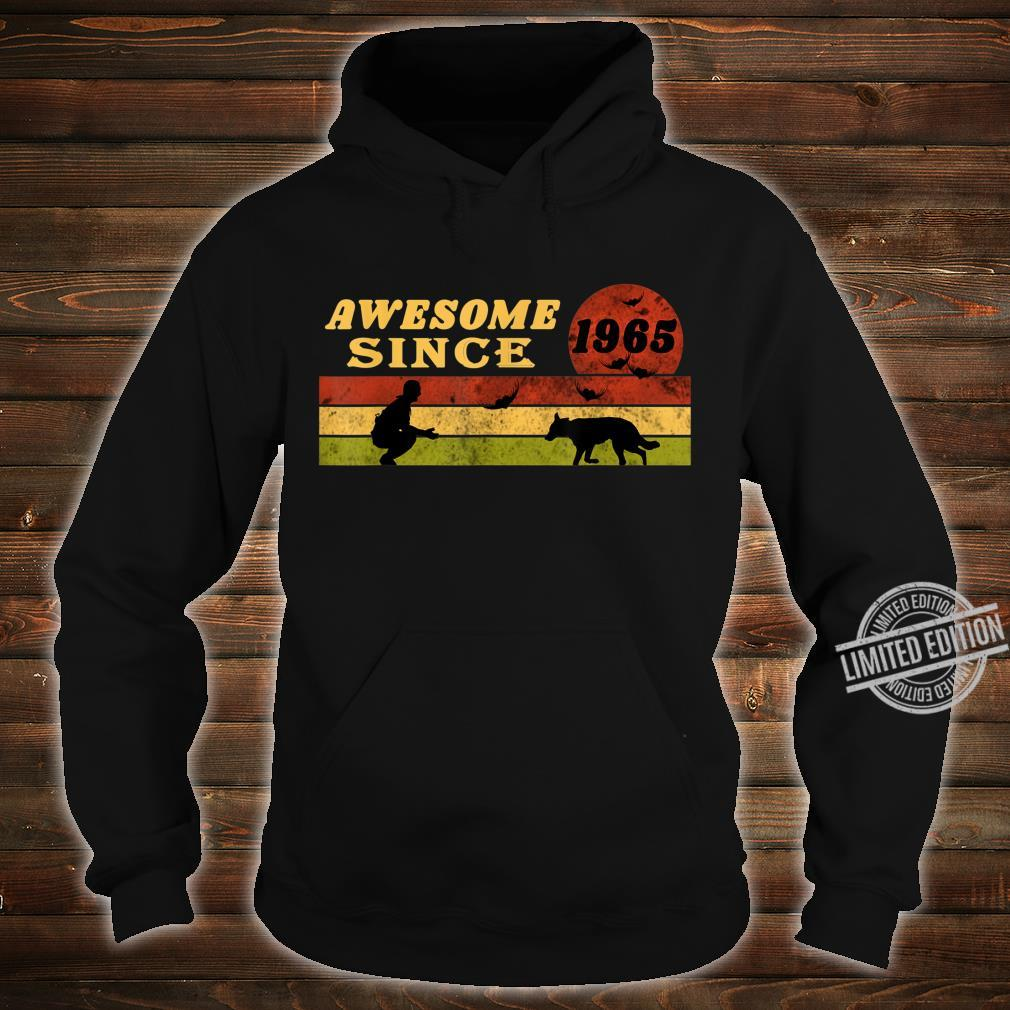 80s Vintage Retro Dog 55th Birthday, Awesome Since 1965 Shirt hoodie