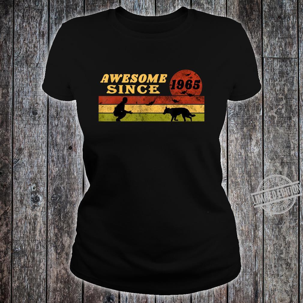80s Vintage Retro Dog 55th Birthday, Awesome Since 1965 Shirt ladies tee