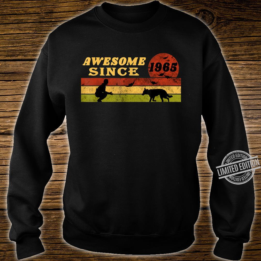 80s Vintage Retro Dog 55th Birthday, Awesome Since 1965 Shirt sweater