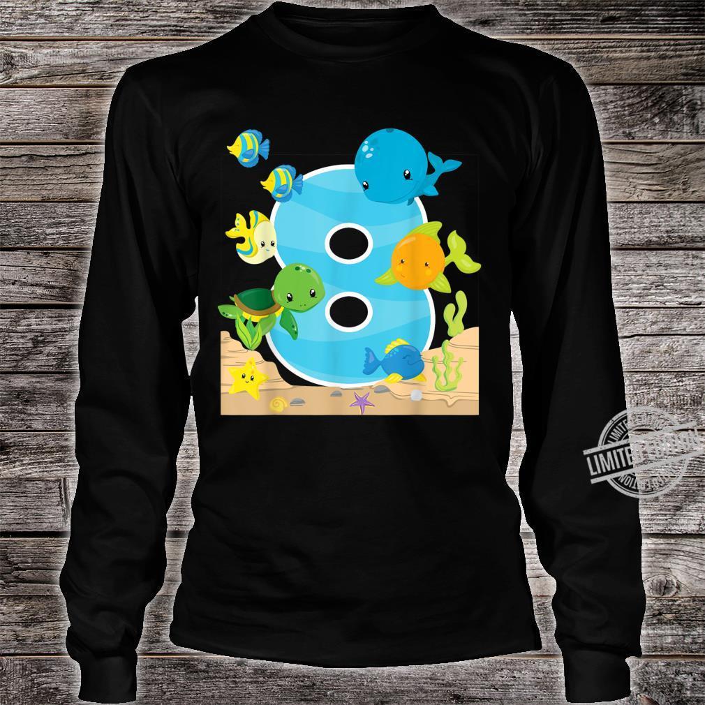 8th Birthday Party 8 Year Old Sea Fish Aquarium Birthday Kid Shirt long sleeved