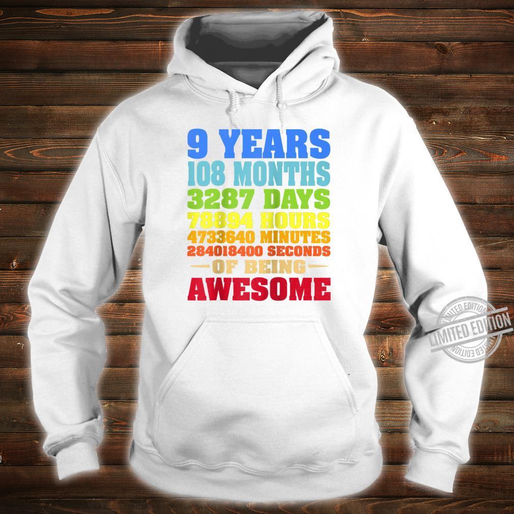 9 Years Old 9th Birthday Vintage Retro Shirt 108 Months Shirt hoodie