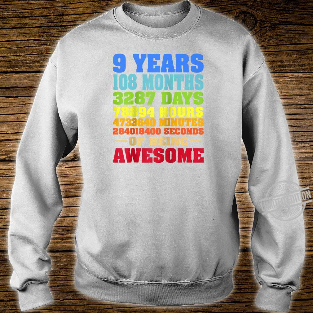9 Years Old 9th Birthday Vintage Retro Shirt 108 Months Shirt sweater