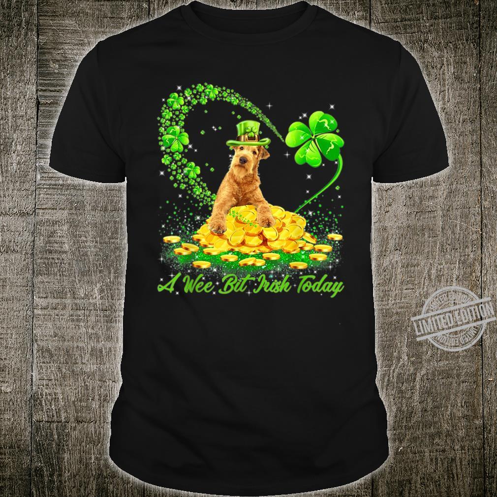 A Wee Bit Irish Today Irish Setter Leprechaun Dog Shirt