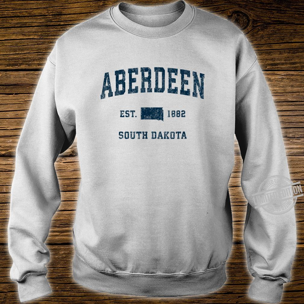Aberdeen South Dakota SD Vintage Sports Design Navy Print Shirt sweater