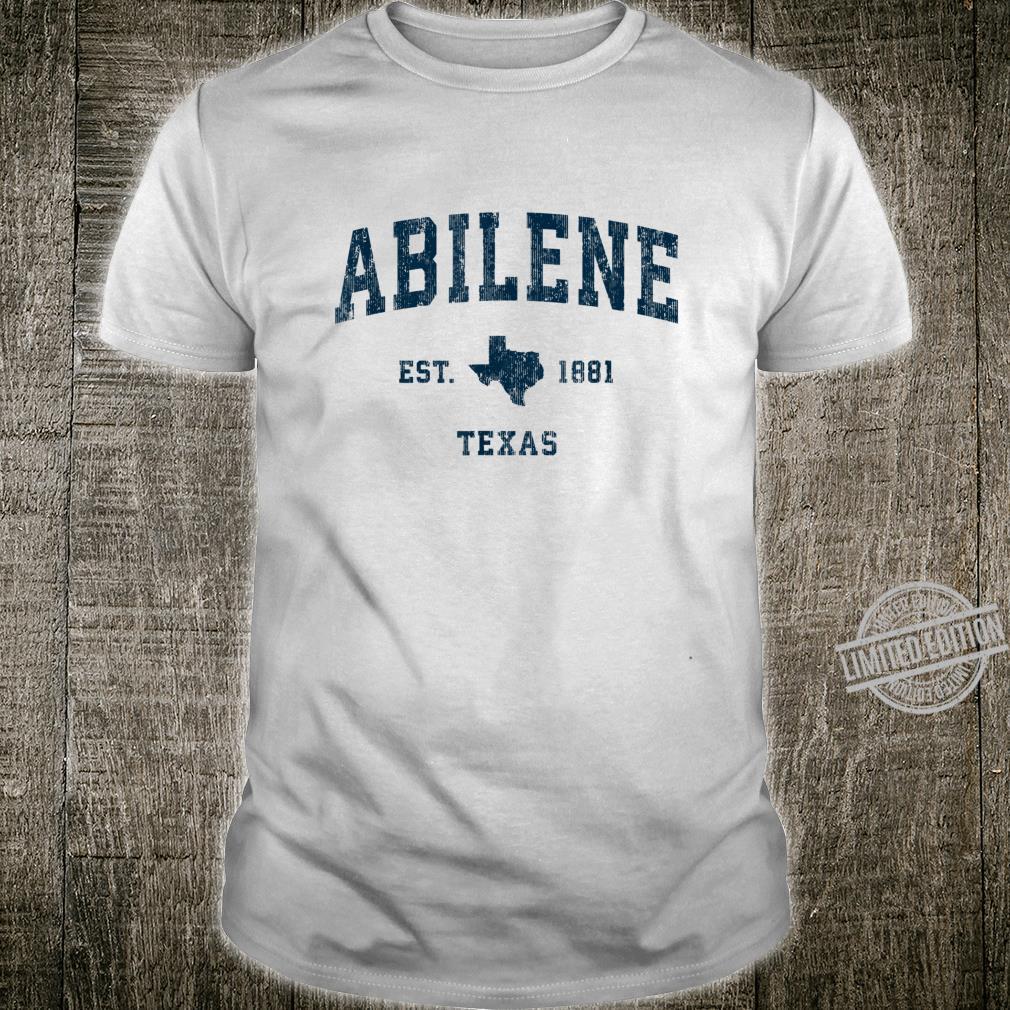 Abilene Texas TX Vintage Sports Design Navy Print Shirt
