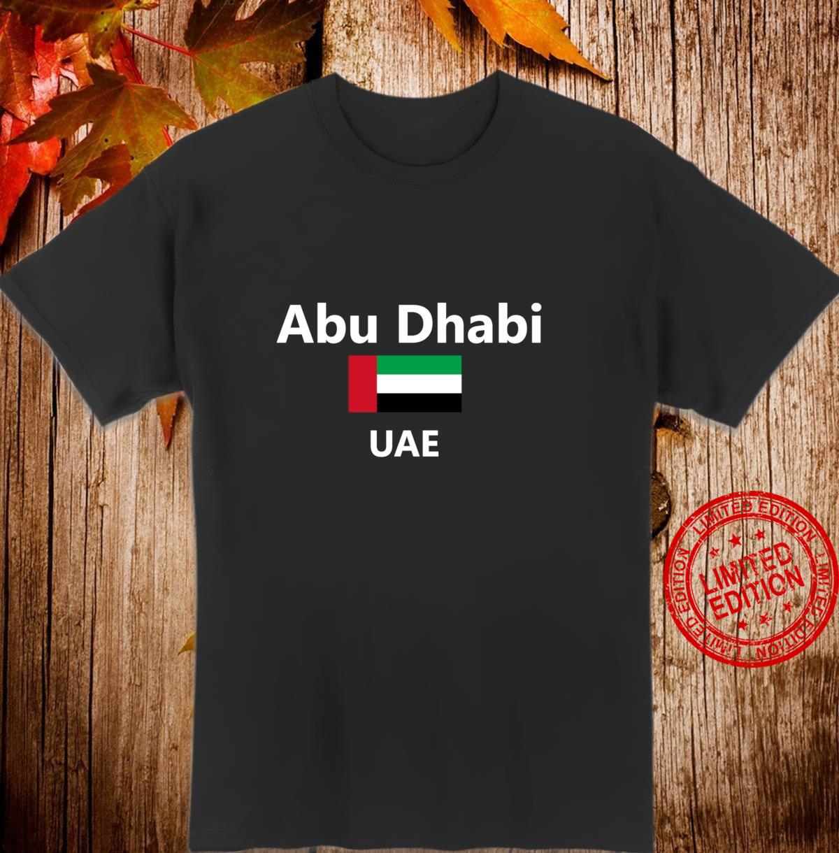 Abu Dhabi United Arab Emirates UAE Flag Country Langarmshirt Shirt