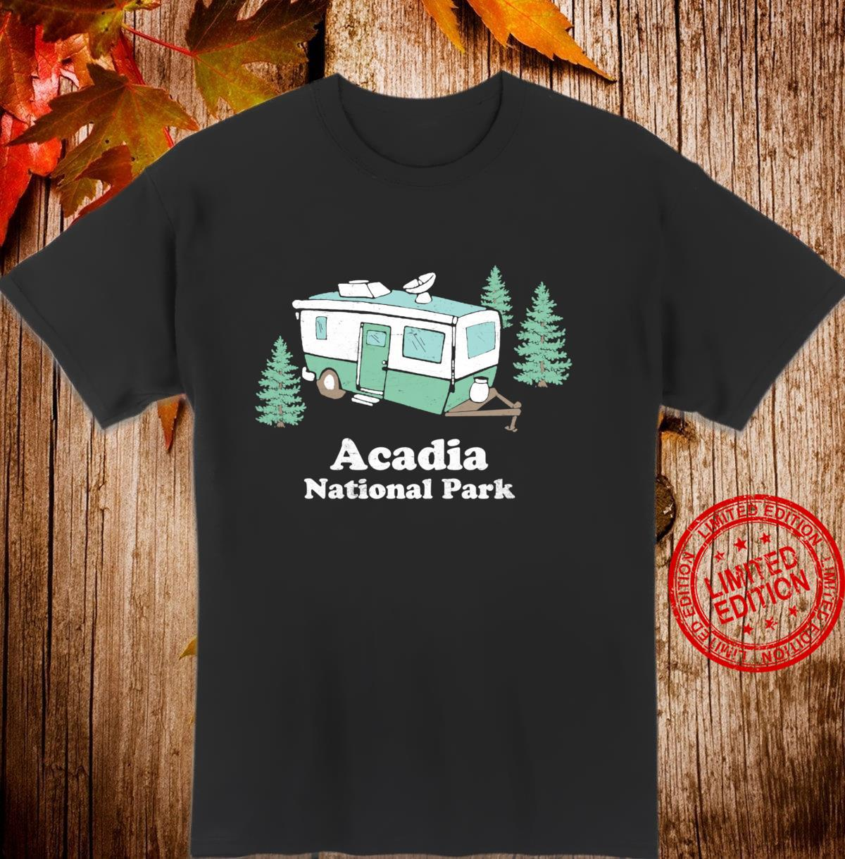 Acadia National Park Vintage RV Camper Retro Shirt