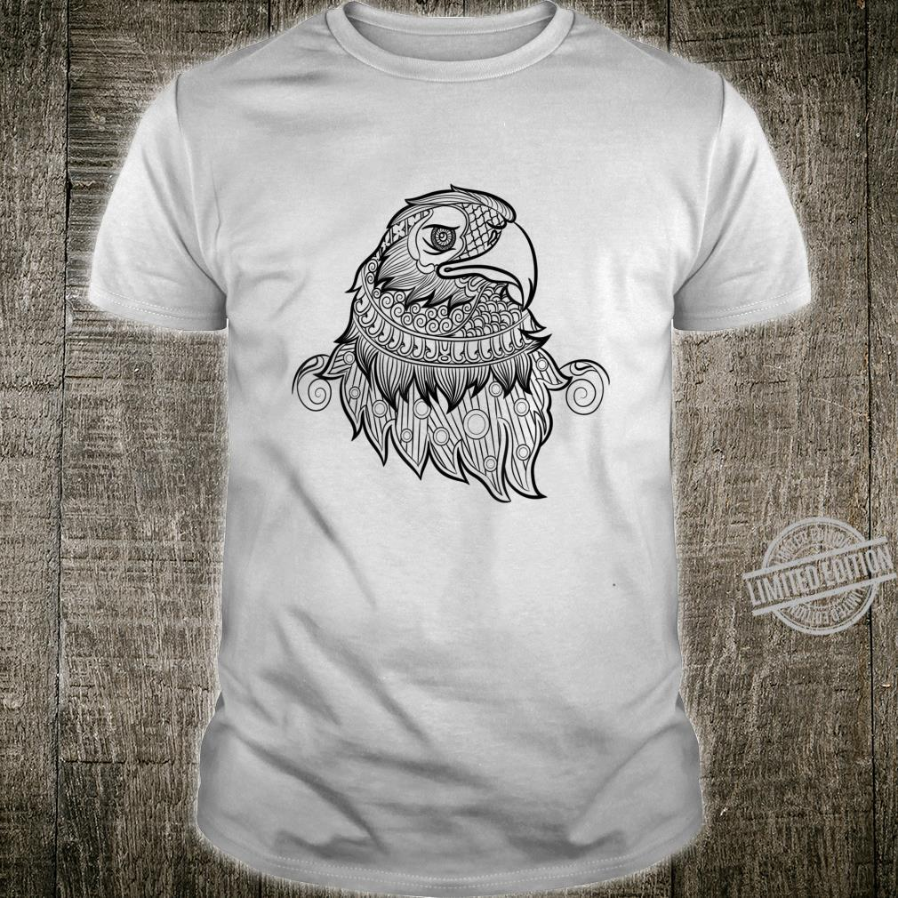Adult Animal Coloring Book Style Eagle Head Shirt