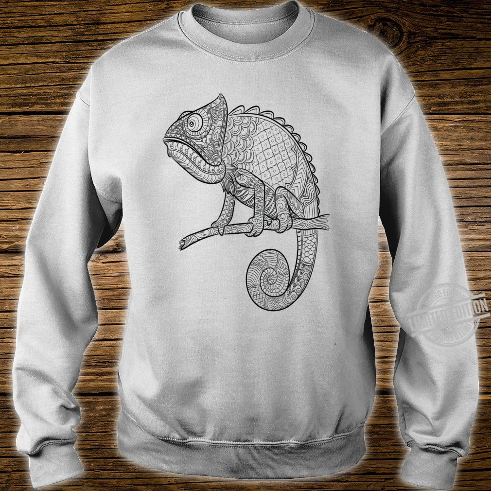 Adult Animal Coloring Book Style Lizard Shirt sweater