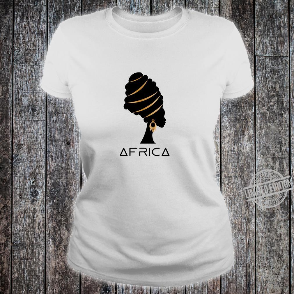 African Artistic Melanin Africa History Pride Heritage Shirt ladies tee